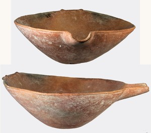 large conical spouted bowl