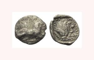 Silver 1/12 Siglos coin, Amathous