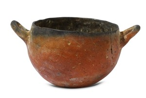 Black Top bowl with 2 handles