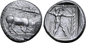 Siver Siglos coin, Uncertain mint (Golgoi?)