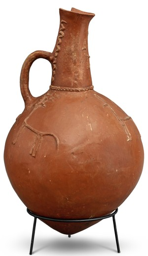 very large jug with 4 stags and snakes