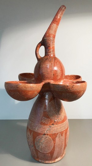 Composite ritual vessel with jug and bowls