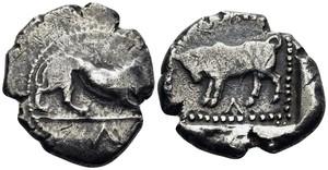 Kourion silver Siglos coin