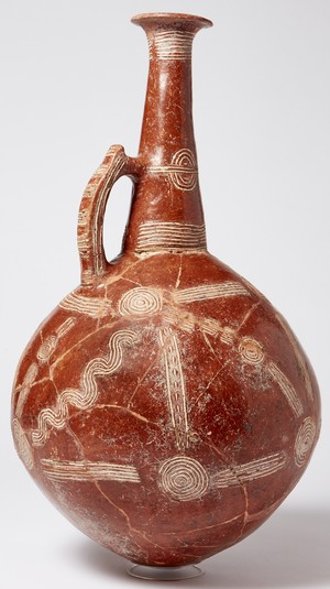 large incised flagon