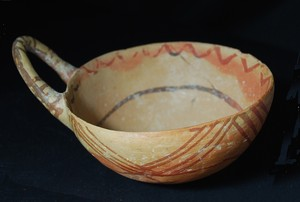 small bowl with handle