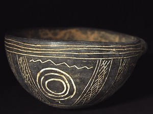 incised Black Polished Ware bowl
