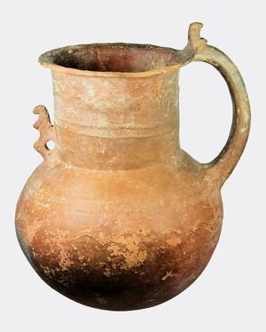 Handmade Black Slip jug