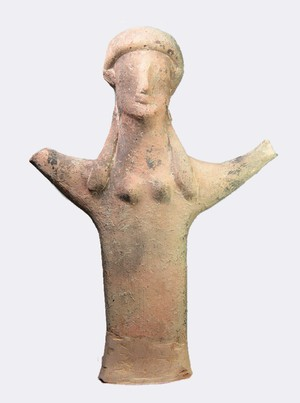 Larger votive figure with raised arms