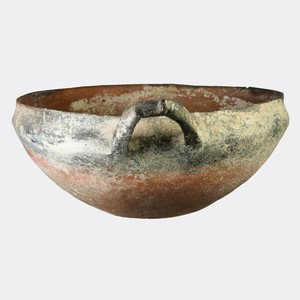Handmade Black Slip III ware bowl