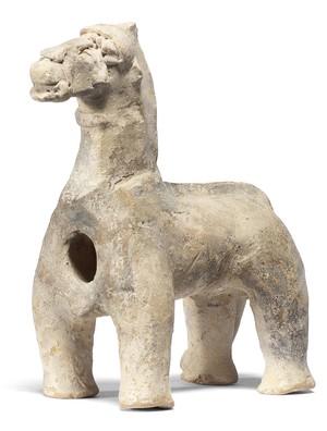 large terracotta horse