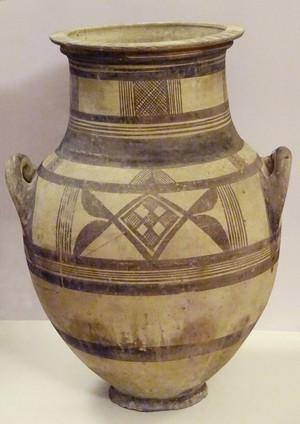 Huge Bichrome amphora