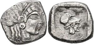 Lapethos silver Siglos coin