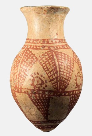 Red on White beaker (Middle Chalcolithic)