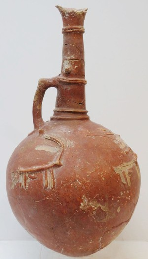 large flagon with stags.